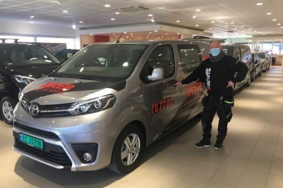 Ny EL bil er ankommet Aker Lås