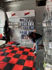 Nytt gulv i butikken